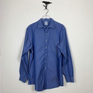 Brooks Brothers Blue Slim Fit Button Down Shirt